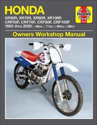 Honda XR50R, XR70R, XR80R, XR100R, CRF50F, CRF70F, CRF80F, CRF100F (85-20): 49cc, 71cc, 80cc, 99cc
