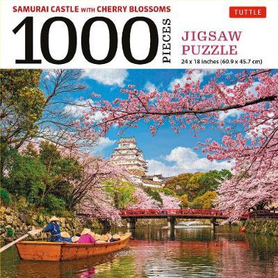 Samurai Castle & Cherry Blossoms- 1000 Piece Jigsaw Puzzle: Cherry Blossoms at Himeji Castle (Finished Size 24 in X 18 in)