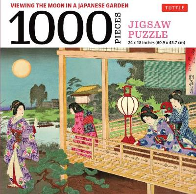 Viewing the Moon Japanese Garden- 1000 Piece Jigsaw Puzzle: Finished Size 24 x 18 inches (61 x 46 cm)