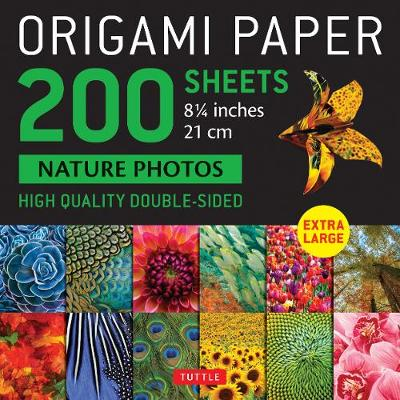 Origami Paper 200 sheets Nature Photos 8 1/4″ (21 cm): High Quality Double-Sided Origami Sheets Printed with 12 Photographs (Instructions for 6 Projects Included)
