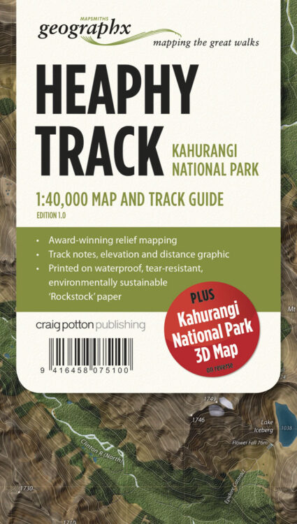 Heaphy Track FOLDED Map