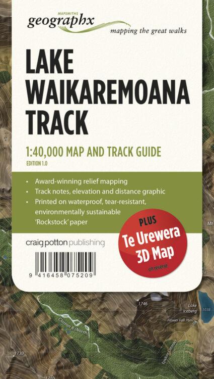 Lake WaikaremoanaTrack FOLDED Map