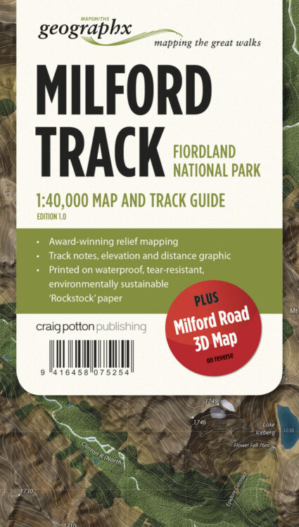Milford Track FOLDED Map