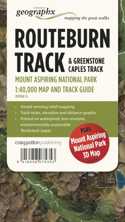 Routeburn Track FOLDED Map