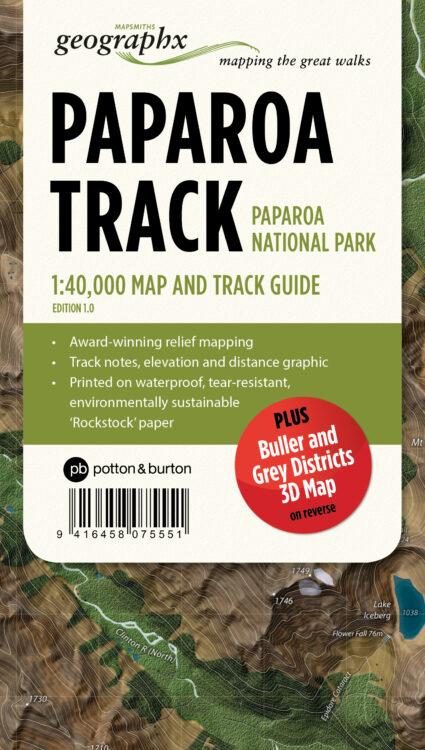 Paparoa Track Map Folded