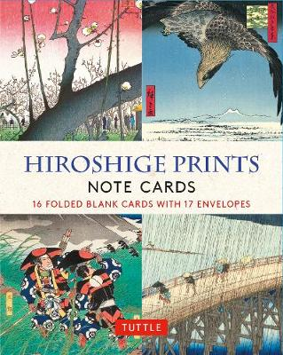 Hiroshige Prints, 16 Note Cards: 16 Different Blank Cards with 17 Patterned Envelopes (Woodblock Prints)