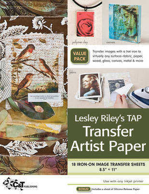 Lesley Riley's Tap Transfer Artist Paper – 18 Sheet Pack: 18 Iron-on Image Transfer Sheets * 8.5″ x 11″