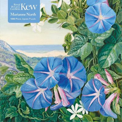 Adult Jigsaw Puzzle Kew: Marianne North: Amatungula and Blue Ipomoea, South Africa: 1000-piece Jigsaw Puzzles