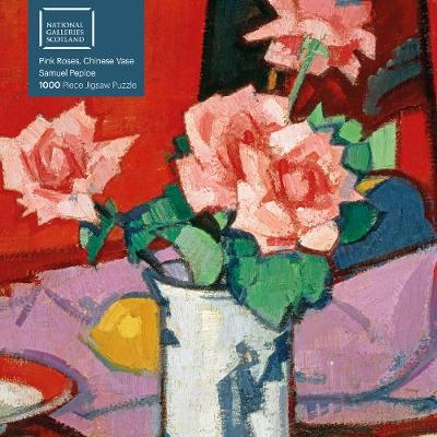 Adult Jigsaw Puzzle National Galleries Scotland – Samuel Peploe: Pink Roses, Chinese Vase: 1000-piece Jigsaw Puzzles