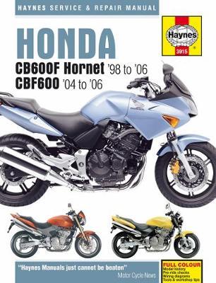 Honda CB600F Hornet & CBF600 1998-2006 Repair Manual
