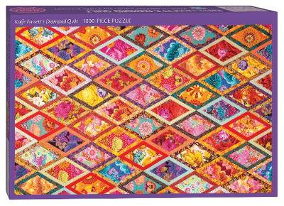 Kaffe Fassett's Diamond Quilt Jigsaw Puzzle for Adults: 1000 Pieces, Dimensions 29.5″ X 19.5″