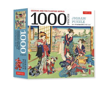 A Geishas and the Floating World – 1000 Piece Jigsaw Puzzle: Finished Size 24 x 18 inches (61 x 46 cm)