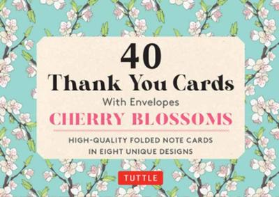 Cherry Blossoms 40 Thank You Cards with Envelopes: 40 Blank Cards in 8 Designs (5 cards each)