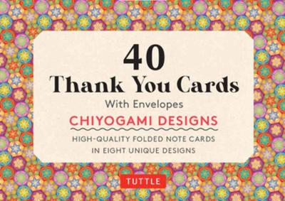Chiyogami Designs 40 Thank You Cards with Envelopes: 40 Blank Cards in 8 Designs (5 cards each)