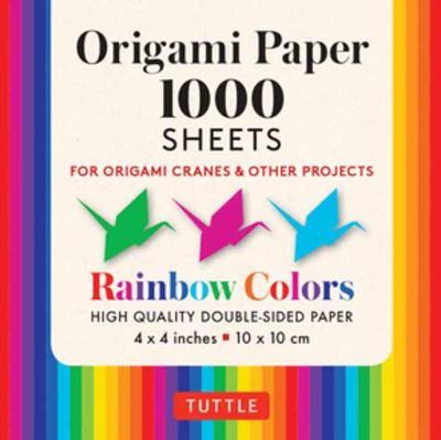 Origami Paper Rainbow Colors 1,000 sheets 4″ (10 cm)