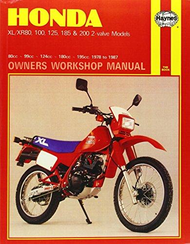 Honda XL/XR with 80cc through 200cc engines 1978-1987 Repair Manual