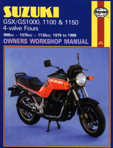 Suzuki GSX/GS1000, 1100 & 1150 4-valves 1979-1988 Repair Manual
