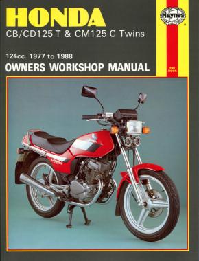 Honda CB/CD125T & CM125C Twins 1977-1988 Repair Manual