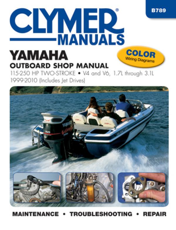 Yamaha 115-250 HP 2-Stroke Outboard/Jet Drives 1999-2010 Repair Manual