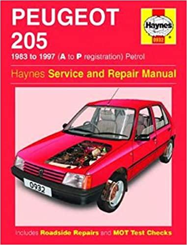 Peugeot 205 1983-1997 Repair Manual