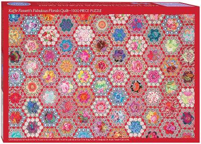 Kaffe Fasett's Fabulous Florals Quilt Jigsaw Puzzle: 1000 Pieces, Dimensions 29.5  x 19.7