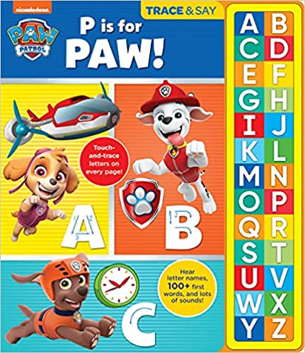 Nickelodeon Paw Patrol: P Is for Paw!: Trace & Say