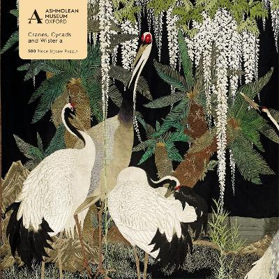 Adult Jigsaw Puzzle Ashmolean: Cranes, Cycads and Wisteria (500 pieces)