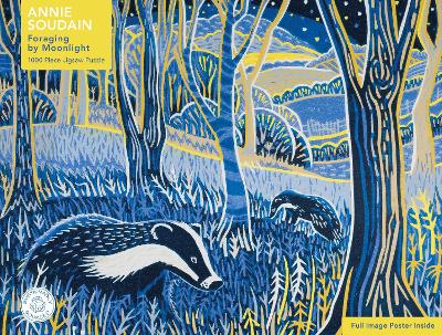 Adult Sustainable Jigsaw Puzzle Annie Soudain: Foraging by Moonlight