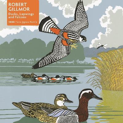 Adult Jigsaw Puzzle Robert Gillmor: Ducks, Falcons and Lapwings